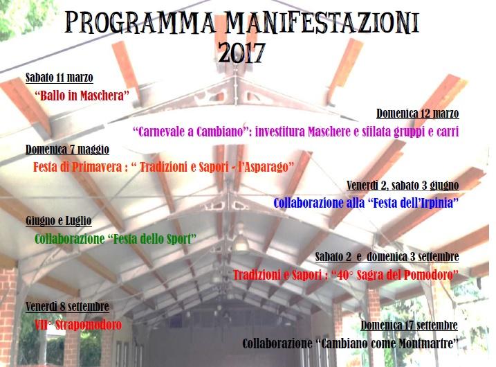 Programma manifestazioni