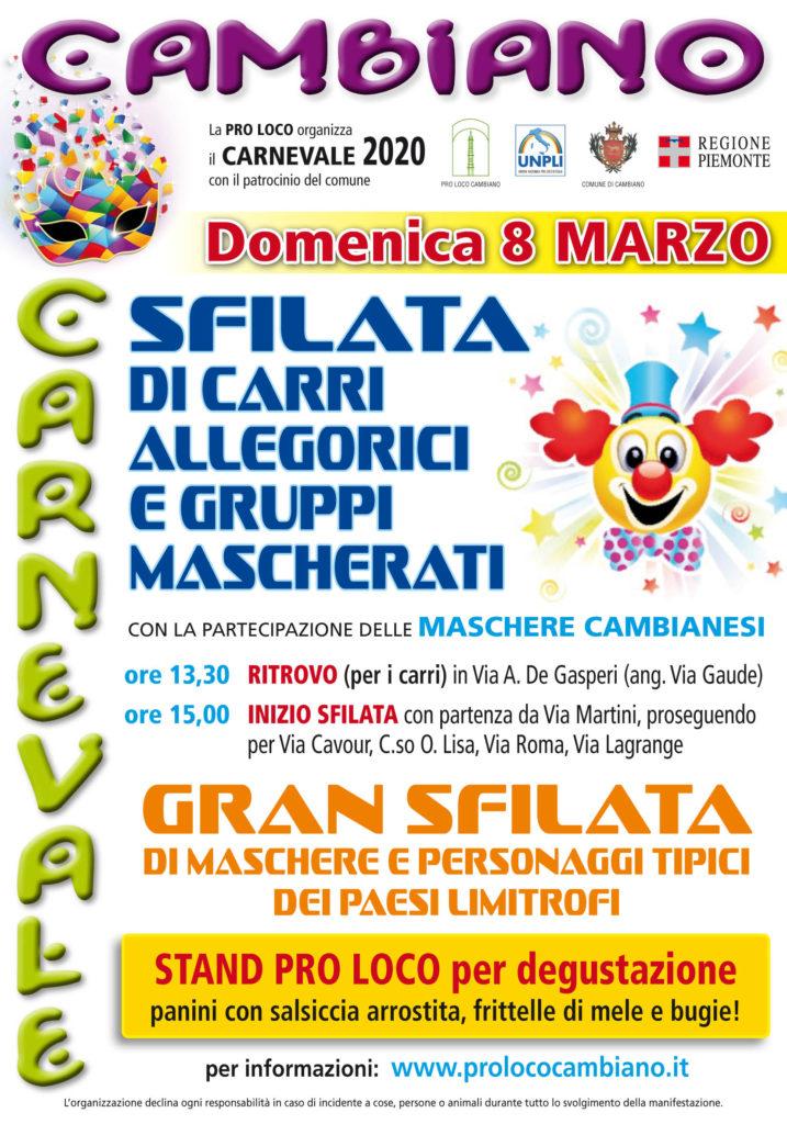Carnevale Cambiano 2020